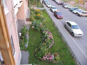 клумбы и цветники у дома