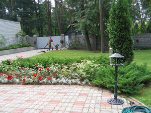 дорожки, садовое освещение
