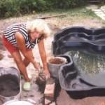 Укрепление стенок и облагораживание водоема