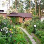 цветник, садовая дорожка