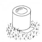 Рис. 1. Поврежденный шов между кольцами находится внизу канавки