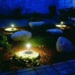 освещение сада камней