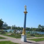 хрустальня колонна на Царицыном острове