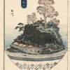 """""""Пейзаж на подносе"""" - работа художника XIX века Ютагавы Йошишиге"""