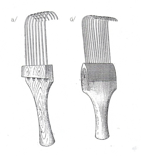 Гребенки для вычесывания козьего пуха