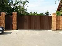 Ворота распашные РИКОН с приводом и калиткой