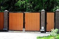 Ворота распашные DOORHAN с калиткой