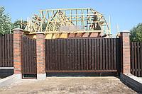Ворота откатные РИКОН с приводом и калиткой